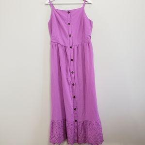 Old Navy Dress Maxi Purple Women's XL Tall NWT